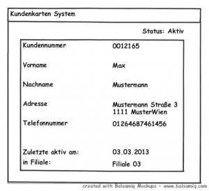 Ein Entwurf einer Kundendatenanzeige für eine Java Swing Oberfläche