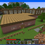 Minecraft pool outdoor