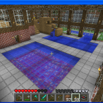 Minecraft pool inside