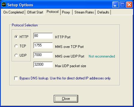 SDP setup