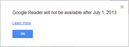 Google Reader will be suspended